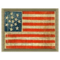 Early 13-Star American Flag 34-Inch x 28-Inch Wall Art