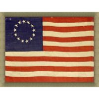 13 Star Betsy Ross Pattern American Flag 34-Inch x 28-Inch Wall Art