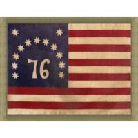 Battle of Bennington American Flag 34-Inch x 28-Inch Wall Art