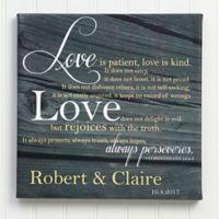 Love is Patient 12-Inch x 12-Inch Canvas Print