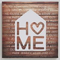 Home is Love 12-Inch x 12-Inch Canvas Print