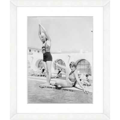 Diving Beauties 18-Inch x 22-Inch Framed Wall Art