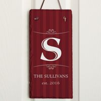 Elegant Monogram Vertical Slate Plaque