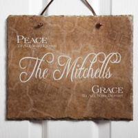 Peaceful Welcome Slate Plaque