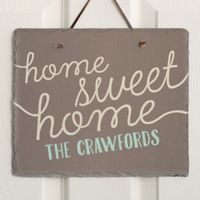 Front Door Greetings Slate Plaque