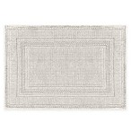 Jean Pierre Stonewash Racetrack 21-Inch x 34-Inch Bath Rug in Light Grey