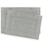 Jean Pierre Stonewash Racetrack Bath Rugs in Grey/Blue (Set of 2)