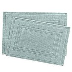 Jean Pierre Stonewash Racetrack Bath Rugs in Marine Blue (Set of 2)