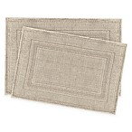 Jean Pierre Stonewash Racetrack Bath Rugs in Taupe (Set of 2)