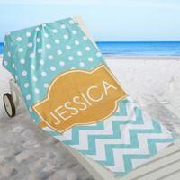 Preppy Chic Beach Towel