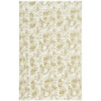 Capel Rugs Cozy 3-Foot x 5-Foot Shag Area Rug in White