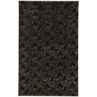 Capel Rugs Cozy 4-Foot x 6-Foot Shag Area Rug in Black