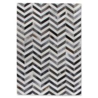 Exquisite Rugs Natural Hide Chevron 8-Foot x 11-Foot Area Rug in Grey/White