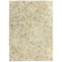 Exquisite Rugs Natural Hide Geometric 8-Foot x 11-Foot Area Rug in Ivory