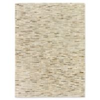 Exquisite Rugs Natural Hide Stitched 5-Foot x 8-Foot Area Rug in Silver