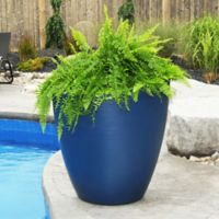 Mayne® Modesto 30-Inch Round Indoor/Outdoor Planter in Neptune Blue