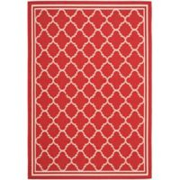 Safavieh Courtyard Quatrefoil 6-Foot 7-Inch x 9-Foot 6-Inch Indoor/Outdoor Area Rug in Red/White