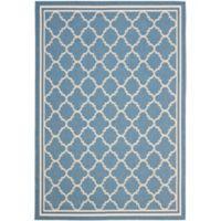 Safavieh Trellis 8-Foot 11-Inch x 12-Foot Indoor/Outdoor Area Rug in Blue/Beige