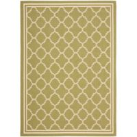 Safavieh Courtyard Quatrefoil 9-Foot x 12-Foot Indoor/Outdoor Area Rug in Green/Beige