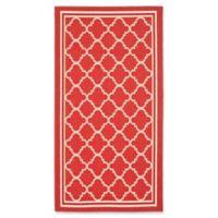 Safavieh Courtyard Trellis 2-Foot x 3-Foot 7-Inch Indoor/Outdoor Accent Rug in Red/White