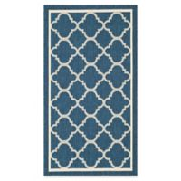 Safavieh Courtyard Trellis 2-Foot x 3-Foot 7-Inch Indoor/Outdoor Accent Rug in Navy/Beige
