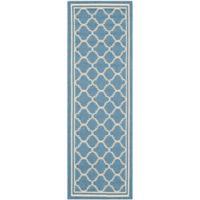 Safavieh Courtyard Trellis 2-Foot 3-Inch x 18-Foot Indoor/Outdoor Runner in Blue/Beige