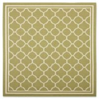 Safavieh Courtyard Trellis 4-Foot Square Indoor/Outdoor Accent Rug in Green/Beige