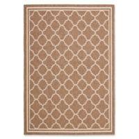 Safavieh Courtyard Trellis 6-Foot 7-Inch x 9-Foot 6-Inch Indoor/Outdoor Area Rug in Brown/White