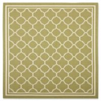 Safavieh Courtyard Trellis 7-Foot 10-Inch Square Indoor/Outdoor Area Rug in Green/Beige