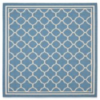 Safavieh Courtyard Trellis 7-Foot 10-Inch Square Indoor/Outdoor Area Rug in Blue/Beige