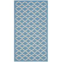 Safavieh Courtyard 2-Foot x 3-Foot 7-Inch Indoor/Outdoor Accent Rug in Blue/Beige