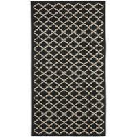 Safavieh Courtyard 2-Foot x 3-Foot 7-Inch Indoor/Outdoor Accent Rug in Black/Beige
