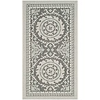 Safavieh Courtyard 2-Foot x 3-Foot 7-Inch Indoor/Outdoor Accent Rug in Light Grey