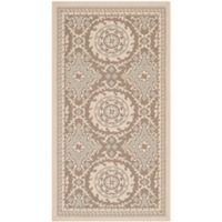 Safavieh Courtyard 2-Foot 7-Inch x 5-Foot Indoor/Outdoor Area Rug in Beige