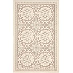 Safavieh Courtyard 4-Foot x 5-Foot 7-Inch Indoor/Outdoor Area Rug in Beige