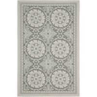Safavieh Courtyard 4-Foot x 5-Foot 7-Inch Indoor/Outdoor Area Rug in Light Grey