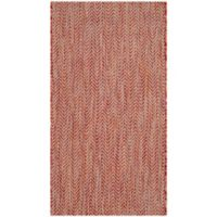 Safavieh Courtyard Chevron 2-Foot x 3-Foot 7-Inch Indoor/Outdoor Accent Rug in Red/Beige