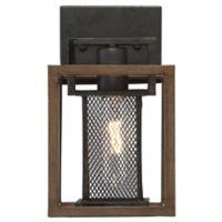 Varaluz® Rio Lobo 1-Light Vanity Light in Dark Oak/Black