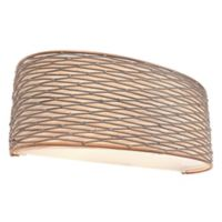 Varaluz® Flow 2-Light Wall Mount Bath Fixture with Fabric Shade in Bronze