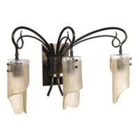 Varaluz® Soho 3-Light Wall-Mount Vanity Fixture in Dark Brown