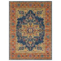 Surya Fenalun 3-Foot 11-Inch x 5-Foot 7-Inch Area Rug in Teal/Orange