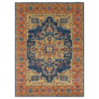 Surya Fenalun 9-Foot 3-Inch x 12-Foot 6-Inch Area Rug in Teal/Orange