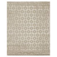 Exquisite Rugs Metro Velvet Linked Squares 6-Foot x 9-Foot Area Rug in Beige