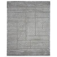 Exquisite Rugs Metro Velvet Maze 6-Foot x 9-Foot Area Rug in Charcoal