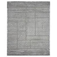 Exquisite Rugs Metro Velvet Maze 4-Foot x 6-Foot Area Rug in Charcoal