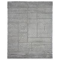 Exquisite Rugs Metro Velvet Maze 8-Foot x 10-Foot Area Rug in Charcoal