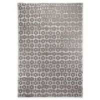 Exquisite Rugs Metro Velvet Linked Square4-Foot x 6-Foot Area Rug in Silver