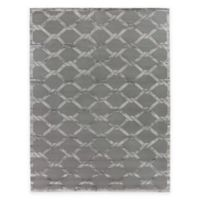 Exquisite Rugs Metro Velvet Twist 6-Foot x 9-Foot Area Rug in Grey