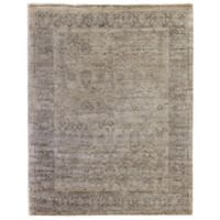 Exquisite Rugs Antique Style Botanical Border 6-Foot x 9-Foot Area Rug in Beige