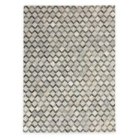 Exquisite Rugs Natural Hide5-Foot x 8-Foot Area Rug in Ivory/Silver